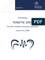 Proceedings Fonetik2009