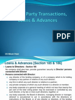Related Party Transactions & Loans - Nilesh Patel