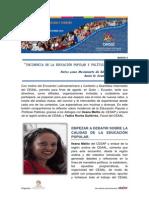 Encuentro Latinoamericano y Caribeño de Educación Popular y Asamblea Intermedia del CEAAL - Boletín Nº 3