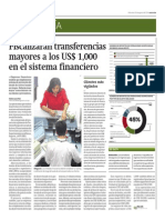 Fiscalizarán transferencias mayores a los US$ 1,000_Gestión 20-08-2014