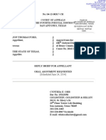 Reply Brief for Appellant, Ford v. Texas (May 12, 2014)