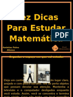 -Dez Dicas Para Estudar Matemática