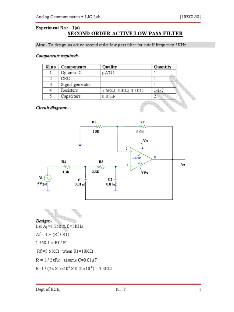 Ac Lic Manual Frequency Modulation Electronic Filter 1kh Synthetic Inductor Circuit Diagram