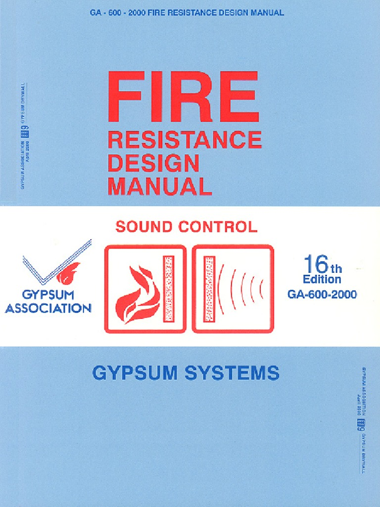 12 Fire Resistance Design Manual  Framing (Construction)  Drywall