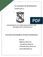 Touchless Fingerprinting Sensor in Biometrics, Sriram.s,Santhakumar.c.