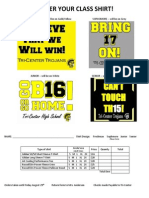 Updated Prom Shirts Order Form 2014