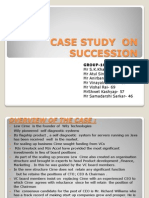 Case Study on Succession