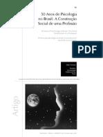 50 Anos Da Psicologia No Brasil _ a Construção Social de Uma Profissão