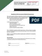 Pre-employment Medical Declaration Form - New Sept 2012