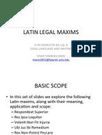 LatinLegalMaxims