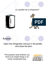 Aptitude Test - Refrigerator