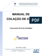 Manual de Colacao de Grau