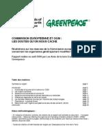 Rapport Commission Europeenne OGM 2006