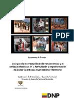 Guia Inclusion Variable Etnica Enfoque Diferencial Cartilla Enero 2012 - DNP