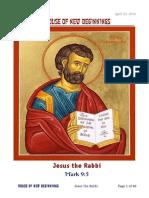 Jesus the Rabbi