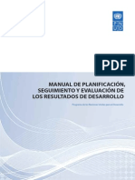 Manual de planificación, seguimiento y evaluación de los resultados de desarrollo (PNUD)