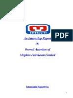 Iternship r on Meghna Petroleum Limite(Mili)