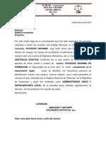Carta Banco SA Para Llenar
