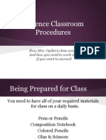 science classroom procedures