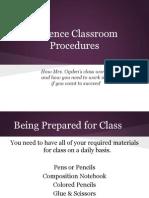 science classroom procedures