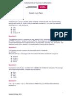 Fundamentals of business mathematics - CIMA