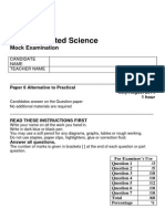 10 IGCSE Science Mock Exam Paper 6 2014