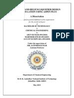 NITROGEN AND HELIUM LIQUEFIER DESIGN AND SIMULATION USING ASPEN PLUS