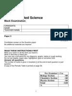 10 IGCSE Science Mock Paper 3