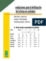 Fertilizacion de Fresa Hidroponica