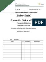 1.- Formato de Planeación