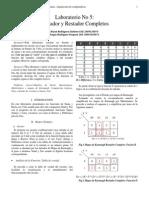 Laboratorio_Informe_5 Sumador y Restador Completos