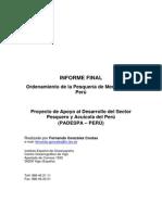 Ordenamiento de La Pesquería de Merluza en El Perú