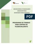 Programas de Trabajo CT Telebachillerato