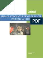 Indice Tecnico Voladura
