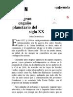 La Jornada_ El Gran Engaño Planetario Del Siglo XX