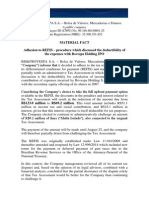 Material Fact - Payment under the tax relief program (REFIS) of expenses incurred by Bovespa Holding in the IPO