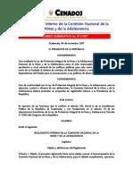 Reglamento Interno Comisión NIÑEZ