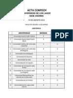 Acta Confech Universidad de Los Lagos Sede Osorno - 16 de Agosto de 2014 (1) (1)