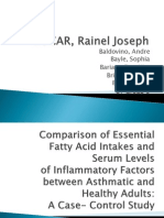 Comparison of Essential Fatty Acid Intakes...a Case-control Study