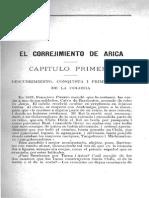 Dagnino, V., El Corregimiento de Arica (Incompleto).