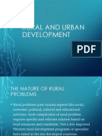 Rural and Urban Development