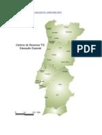 Mapa Portugal-Localização CRTIC,Informação DGIDC-2014