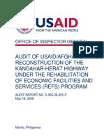 Audit Afghanistan KH 2006