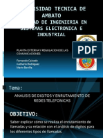 Analisis de Digitos y Enrutamiento de Redes Telefonicas