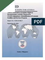 Audit Afghanistan 2004