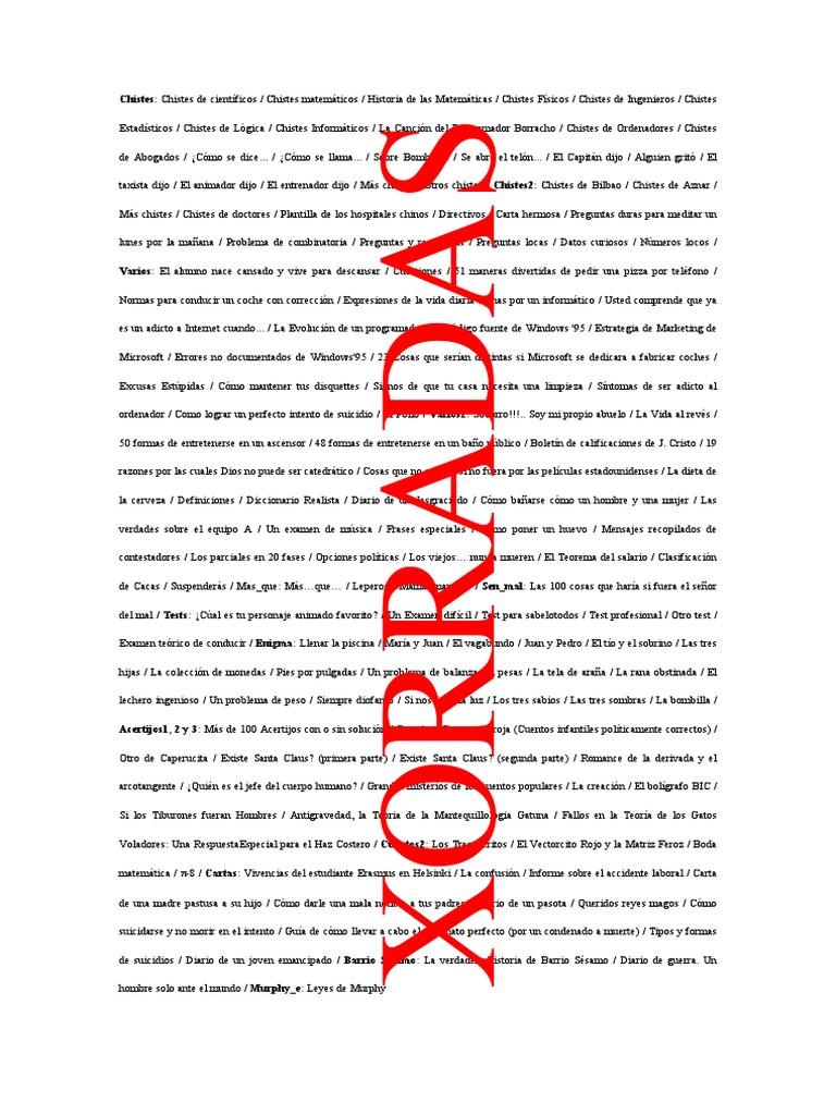 Xorradas (Libro Chistes) 194 Paginas