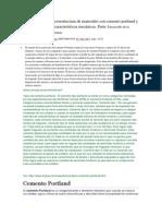 Desarrollo de La Microestructura de Materiales Con Cemento Portland y Su Relación Con Las Características Mecánicas