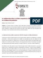 La Colaboración Eficaz y La Libre Competencia_ INDECOPI Atrapado en El Dilema Del Prisionero _ Forseti