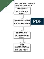 Ahli Jawatankuasa Lembaga Disiplin Sekolah 2013