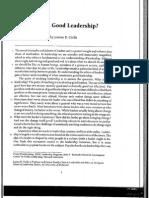 What is Good Leadership Ciulla